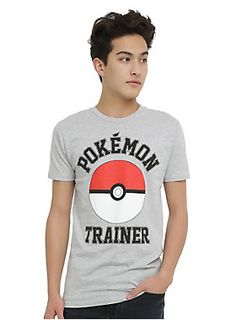 """<p>So you wanna catch Pokemon? Start your training in this """"Pokemon Trainer"""" tee and maybe someday you'll become the Pokemon Champion. We're rooting for you.</p>  <ul> <li>90% cotton; 10% polyester</li> <li>Wash cold; dry low</li> <li>Imported</li> <li>Listed in men's sizes</li> </ul>"""
