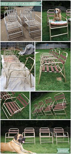 Wouldn't it be Lovely: DIY: Patio Chair Before & After