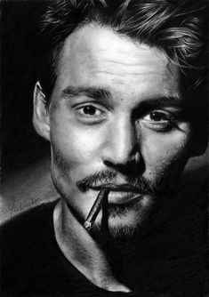 Black and White Photography of People | Johnny Depp |