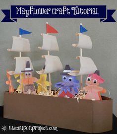 Easy Kids Craft for Thanksgiving - Build the Mayflower