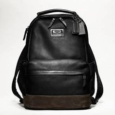 $398 Coach - Rivington Leather Backpack Black