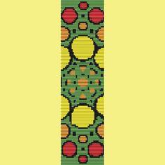 Fruit Platter Bracelet Bead Pattern Loom Stitch by TheBeadedCat, $6.00