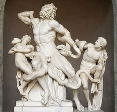 Laocoon. Discovered in 1506 near the site of Nero's Domus Aurea in Rome, this statue was mentioned by Pliny the Elder as a masterpiece of the arts.