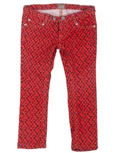 KIDSCASE Homer skinny red check jeans