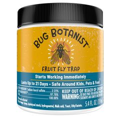 Bug Botanist Flying Bug Remedy - 16 fluid ounce trigger spray - kills flying insects - safe for use around kids and pets, effective, and powered by essential oils Roach Remedies, Lemongrass Oil, Fruit Flies, Fly Traps, Cleaning Recipes, Baby Oil, Animals For Kids, Active Ingredient, Ants