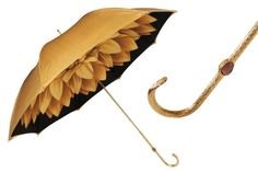 The Pasotti Ombrelli Dahlia Gold Women's Umbrella is a double cloth Manual opening Italian polyester umbrella with a gold dahlia flower motif imprint on the inner. Customize the handle or personalize the umbrella. Floral Umbrellas, Umbrellas Parasols, Beautiful Gold Rings, Beautiful Things, Beautiful Dresses, Spring Shower, Black Gold Jewelry, Best Birthday Gifts, Ballerinas