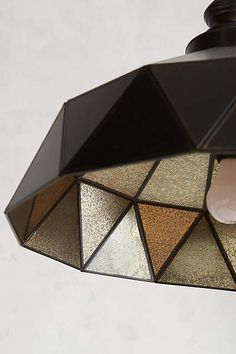 Faceted Steel Pendant Lamp - anthropologie.com