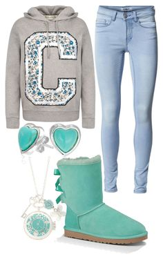 """""""Teal Relaxation"""" by elli-jane-xox ❤ liked on Polyvore featuring UGG Australia, Être Cécile, ONLY and Bling Jewelry"""