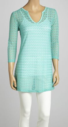Aqua Crochet Tunic - Would be cute over a swimsuit