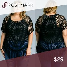 1x 2x 3x Plus size crochet black top Plus size crochet black top 1x 2x 3x Tops