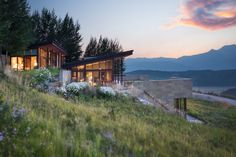 Jackson Hole Wyoming Home Inspired by Frank Lloyd Wright for Sale | Architectural Digest