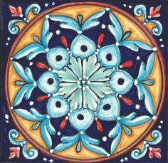 Italian Ceramic Tiles Geometrico - Made in Deruta, Italy Ceramic Floor Tiles, Clay Tiles, Ceramics Tile, Ceramics Ideas, Italian Pattern, Turkish Pattern, Felt Tip Markers, Pottery Store, Italian Tiles
