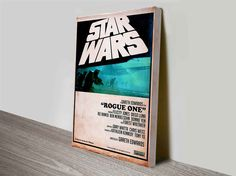 "One of our massive Star Wars Art collection, this one is a poster of Star Wars ""Rogue One"". This makes perfect wall art design."