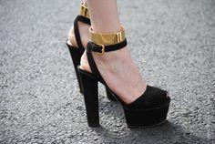 ankle cuffs + prada sandals. amazing.
