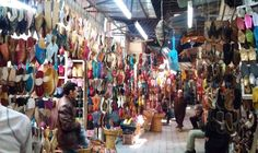 If you want to get lost in the souk in Marrakech, the shoe section is the best place to do it!