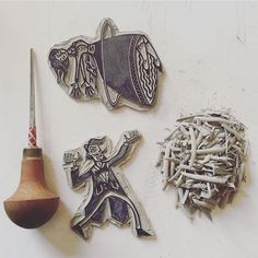 And for my next trick... . . . #printmaking #pfeiltools #linoprint #linocut #printmaking #ukprintmakers #reliefprint #handdrawn #sketchbook #insidemystudio #workinprogress #magic #levitation