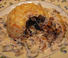 Куриные колобки с грибами