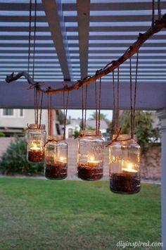Mason Jar Chandelier | Simple Ways To Repurpose Mason Jars | Infographic
