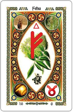 Fehu - Rune of Prosperity  - oooOOoooh Rune Cards.. me likey!