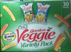 Garden Veggie Snacks ~ Variety Pack ~ 30 Count ~ All Natural ~ Sensible Portions #SensiblePortions