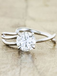 Melinda | Ken & Dana Design this band with an east west oval diamond and rose gold please