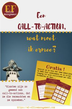 Een call-to-action, wat moet ik ermee? Auto Entrepreneur, Call To Action, Virtual Assistant, Office Management, Marketing, Blog, Link, Blogging