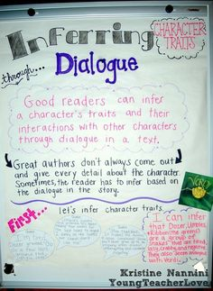 Young Teacher Love: Inferring Character Traits Through Dialogue (Plus a Free Graphic Organizer!)