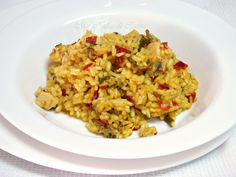 Arroz con Verduras y Pollo Paella, Fried Rice, Risotto, Cauliflower, Fries, Vegetables, Ethnic Recipes, Salads, Roasted Chicken Breast