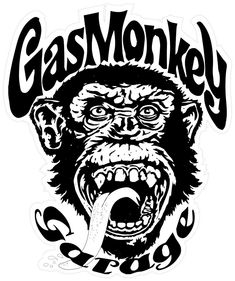 Are you crazy about the Gas Monkey Garage? Add their iconic logo to your home or business featuring the Gas Monkey and its long dripping tongue. The Gas Money sticker is the ultimate decor for a speed fanatic. Gas Monkey Garage, Richard Rawlings, Gaz Monkey, Monkey Art, Garage Logo, Sketch Manga, Rock Poster, Free Gas, Car Stickers