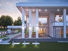 LK&1230 projekt domu z basenem