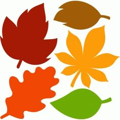 Silhouette Design Store: fall leaves