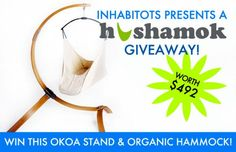 Enter for a chance to win this beautiful Hushamok organic baby hammock!