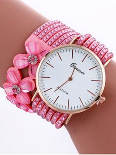 GET $50 NOW   Join RoseGal: Get YOUR $50 NOW!http://www.rosegal.com/watches/flower-rhinestone-studded-layered-pu-935417.html?seid=2275071rg935417