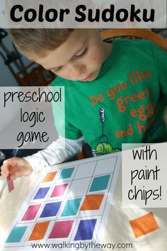 FREE Color with Sudoku for Preschoolers