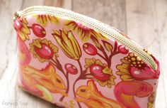 Colorful Spring Makeup Zipper Pouch Tutorial