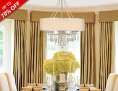 Fill your home with chandeliers, sconces, and other luminaries that'll let you see your space in a new light. Ceiling mounts add a welcoming ambiance to your front hall, while shiny pewter vanity lights make a statement in stylish bathrooms. Try installing bronze pendants above a kitchen island to dice, slice, and serve meals in style.