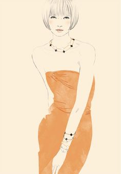 Spanish fashion illustrator Sandra Suy | DENKI-MIRAI, Japanese art licensing agency