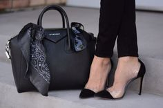 black givenchy bag with pump