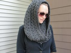 Oversized cowl infinity scarf hoodie by Susietoos on Etsy, $59.00