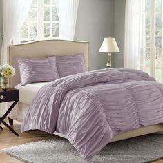 Better Homes and Gardens Ruched 3-Piece Bedding Comforter Mini Set - Walmart.com
