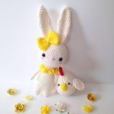 Amigurumi Bunny Easter Bunny  Amigurumi Chiken Crochet Bunny Rabbit Crochet Chiken Crochet Doll Stuffed Animal Plush Kawaii Easter Gift Idea by AmiAmiGocco on Etsy