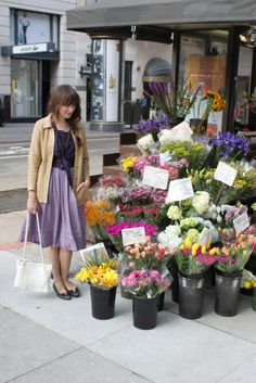 I miss living in S.F. and picking up flowers on my way home...