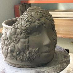 Been deep in goddess planter making for the last few days. This one is inspired…