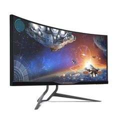 Acer Predator 34-inch Curved UltraWide QHD (3440 x 1440) NVIDIA G-Sync Widescreen Display (X34 bmiphz). he Predator X34 is designed for ultimate gaming performance and style, the 21:9 aspect ratio and 34-inch curved screens transform your viewing experience by drawing you deep into the action. It also is the world's first curved monitor featuring NVIDIA G-SYNC technology to eliminate screen tearing which provide gamers the epic gaming experience and help to secure the victory.