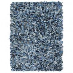 vidaXL Alfombra de Nudo 80x150cm Azul Felpudo Decoraci/ón para Hogar y Casa