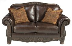 Shop for Signature Design by Ashley North Shore Plus Coffee Loveseat. Get free delivery On EVERYTHING* Overstock - Your Online Furniture Store! Bed Furniture, Furniture Deals, Luxury Furniture, Living Room Furniture, Living Room Decor, Living Room Sets, Bedroom Sets, Ashley Sofa, Old World Style