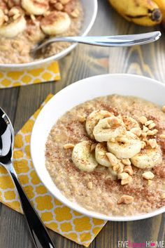 Quick Peanut Butter Banana Oatmeal | MY DISH FOOD