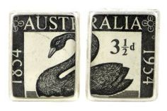 WA Stamp 1954 silver plate and re-purposed stamp cufflinks Southern Cross Tattoos, Shell House, Designer Cufflinks, Australia Day, Kitsch, Tea Towels, Silver Plate, Artisan, Stamp