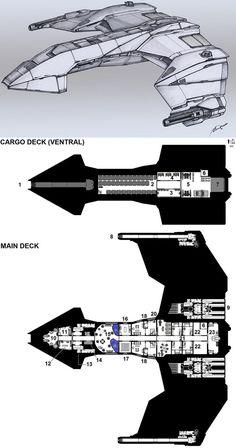 Dark Nova: Dragan Corvette Deckplans by Breandan-OCiarrai