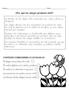 LA MIEL-1 Spanish Class, Comprehension, Phonics, Curriculum, Middle School, Writing, Education, Reading, Classroom Ideas